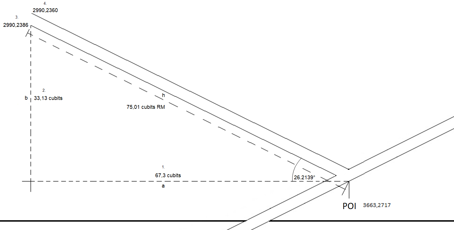 548 232139 Entrance and ascending passage with measure and coordinates close viewPNG
