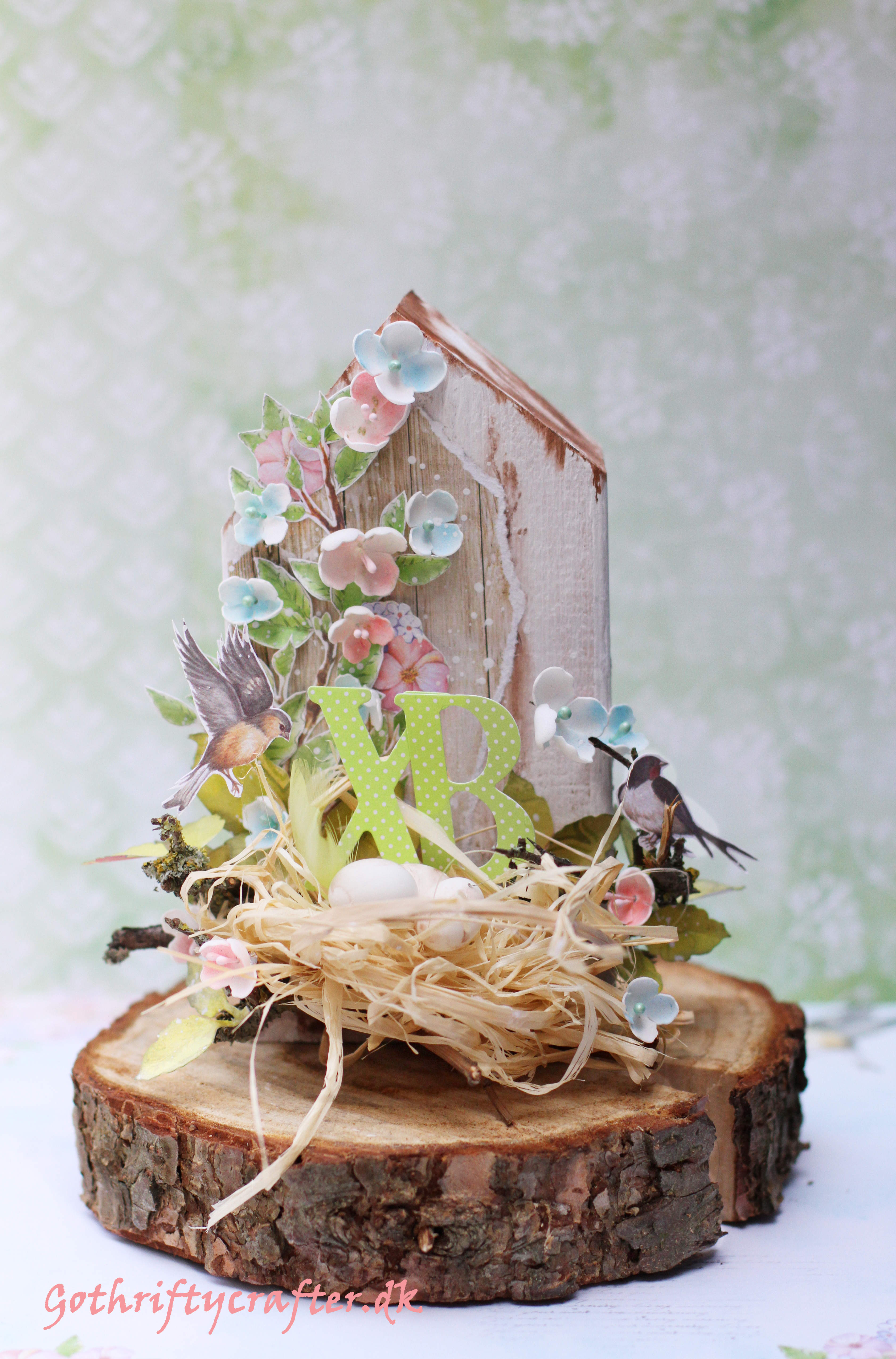 Easter mixed media - bird nest