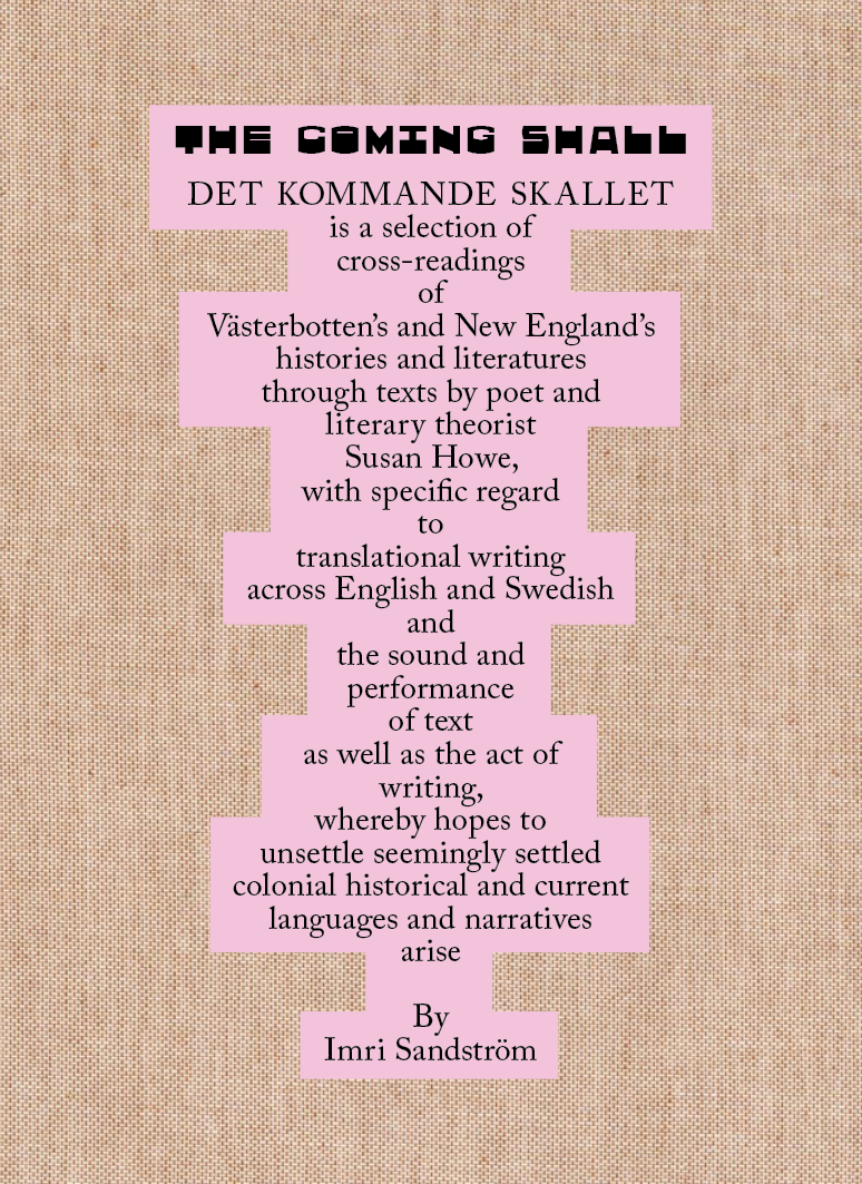 Det kommande skallet / The Coming Shall