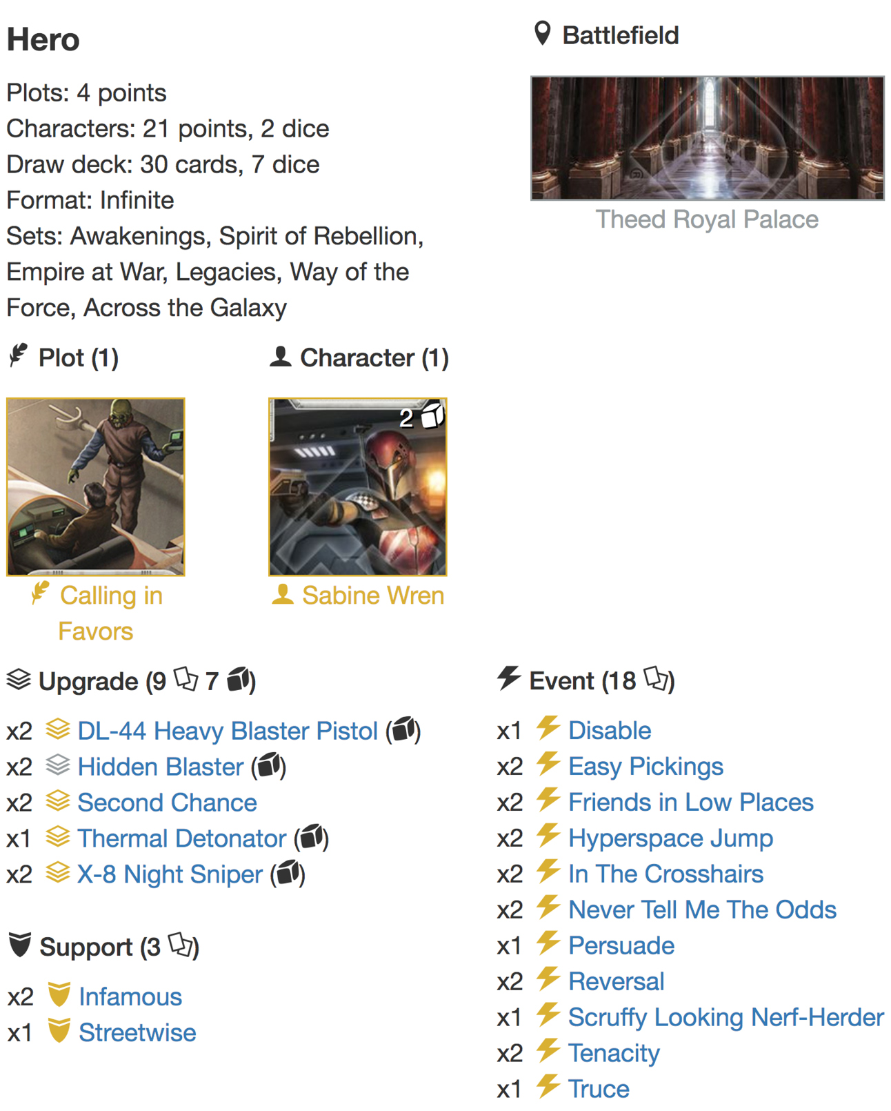 deck list Infinite2jpg