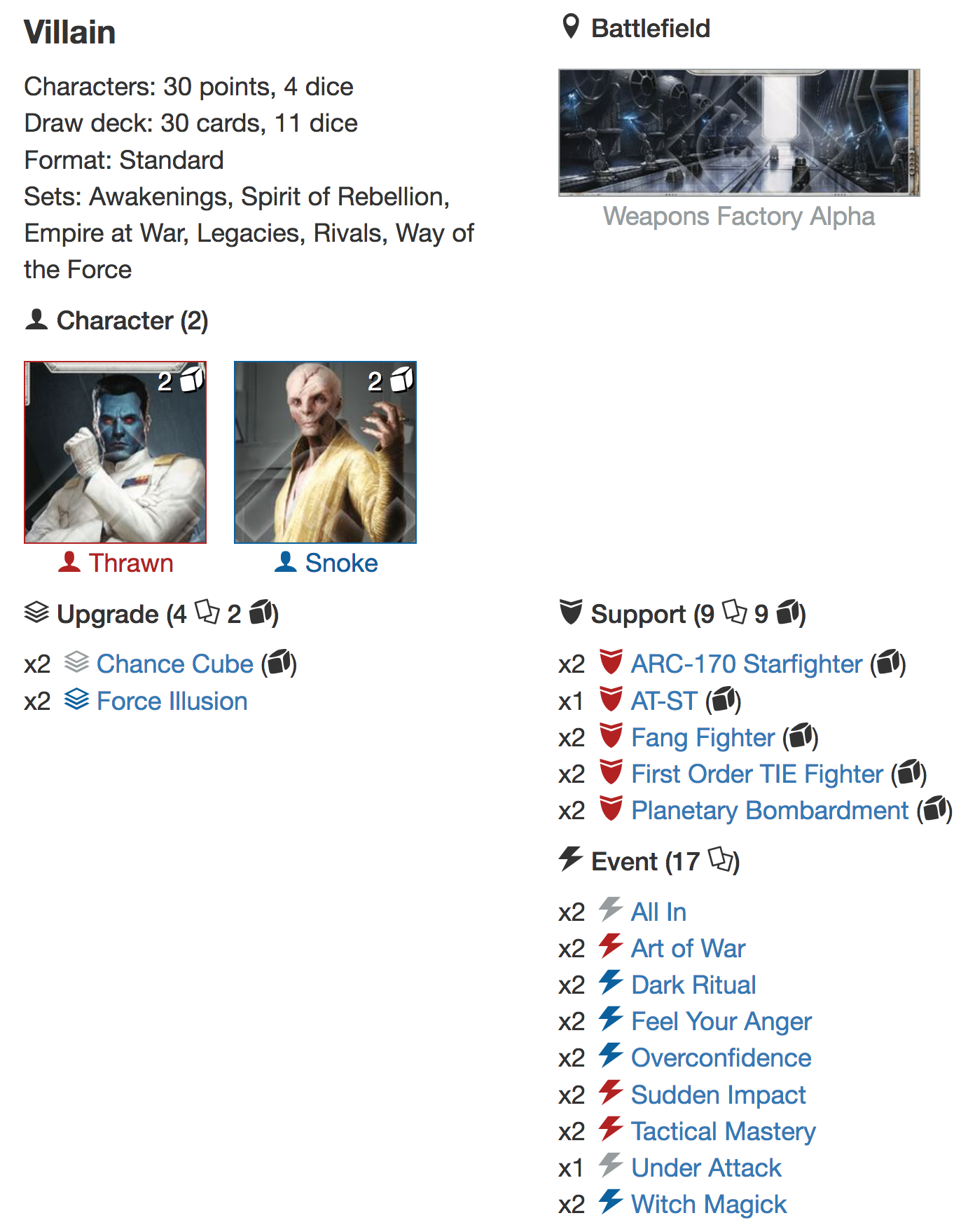 Snoke Thrawn YOUR Destiny Deck Listpng
