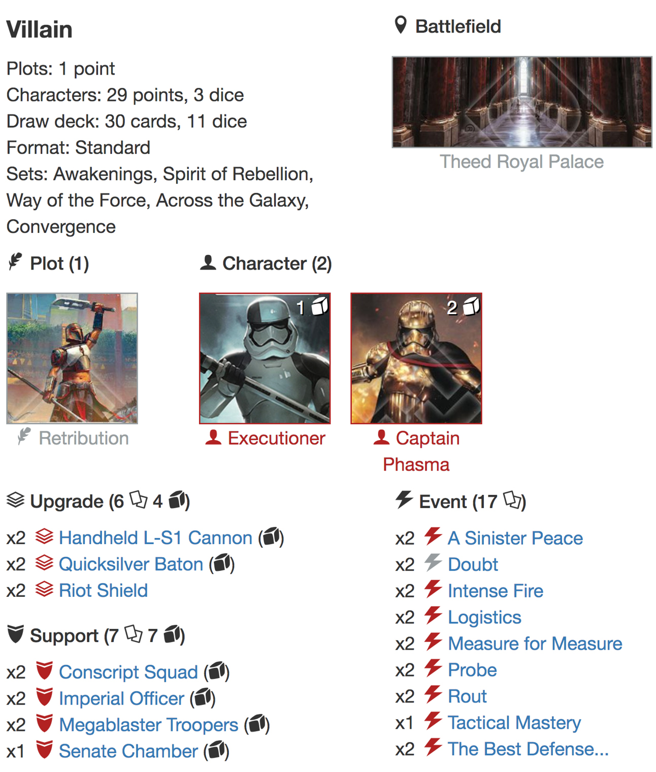 Phasma Executioner deck listjpg