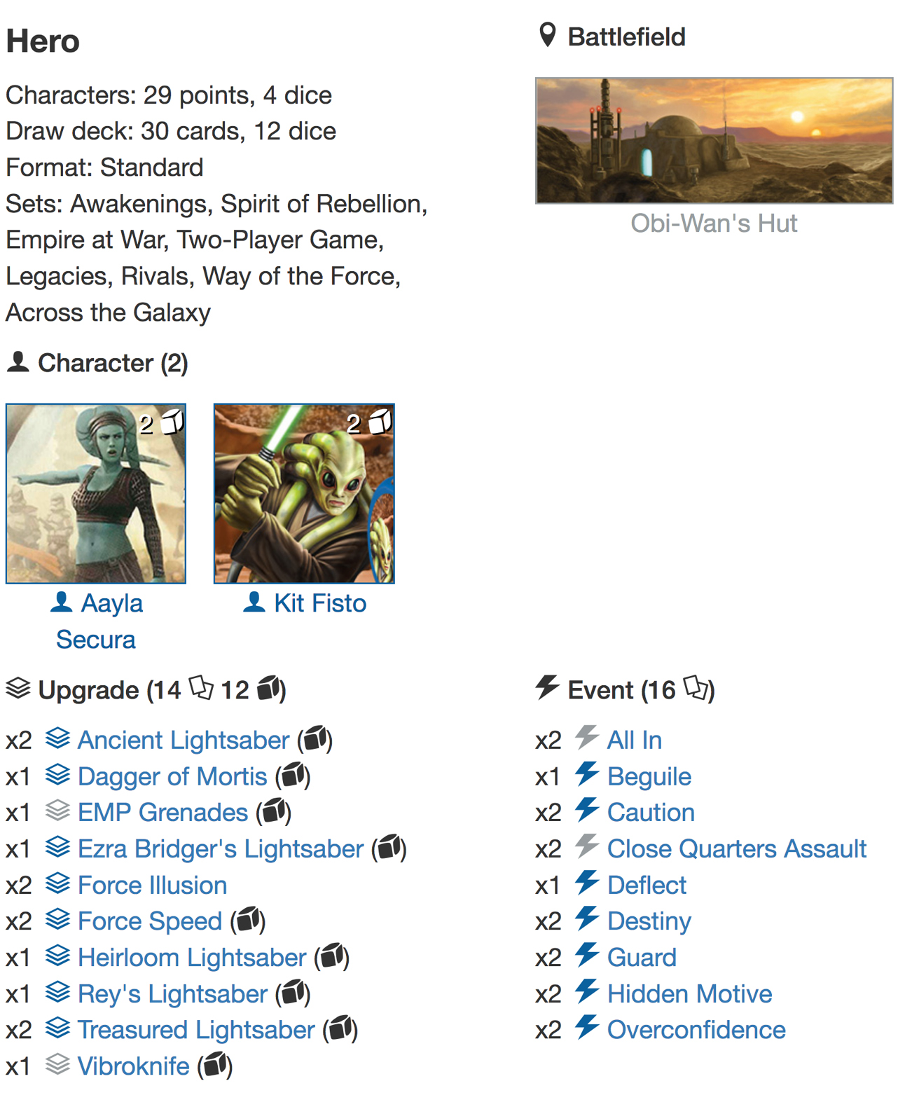 Kit Aayla deck listjpg