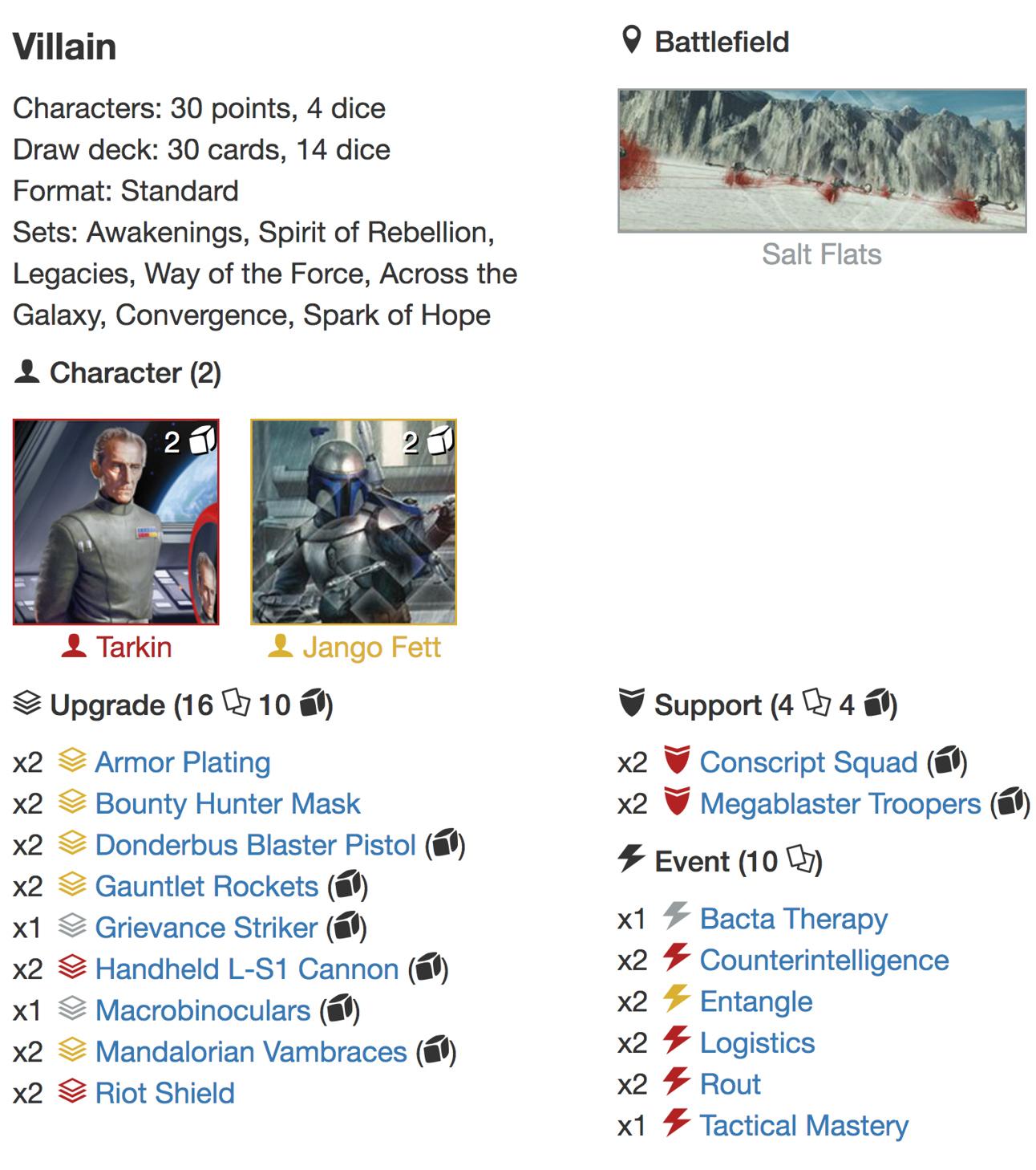 5 Things deck list 2jpg