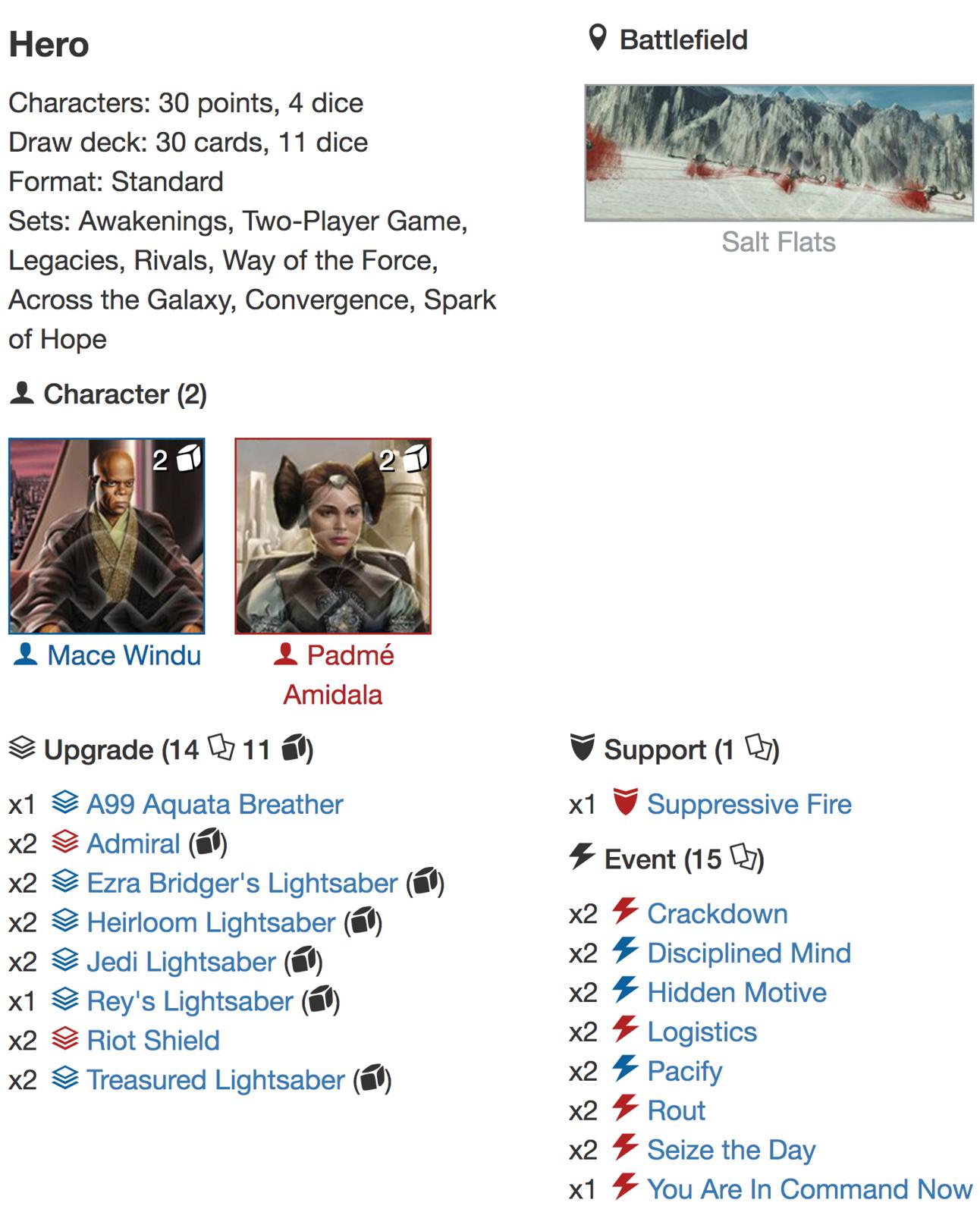 5 Things deck list 3jpg