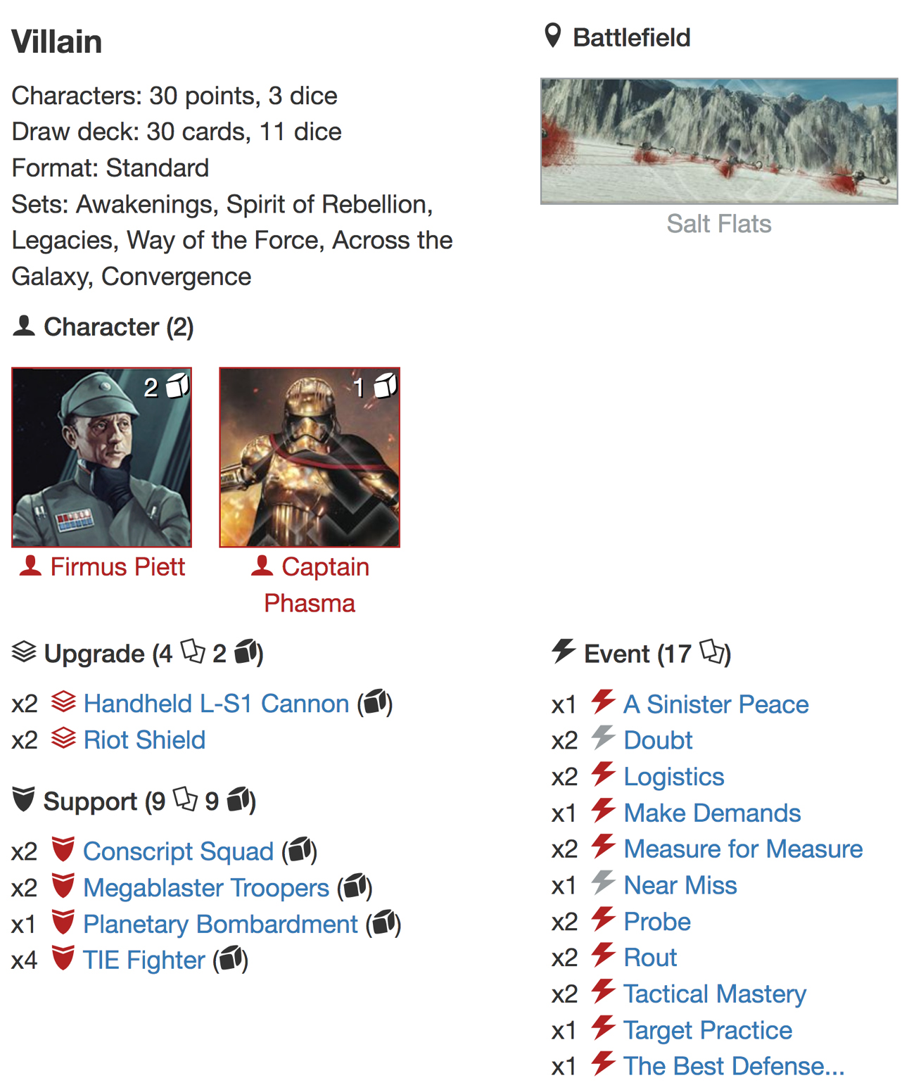 Piett phasma list alternativejpg