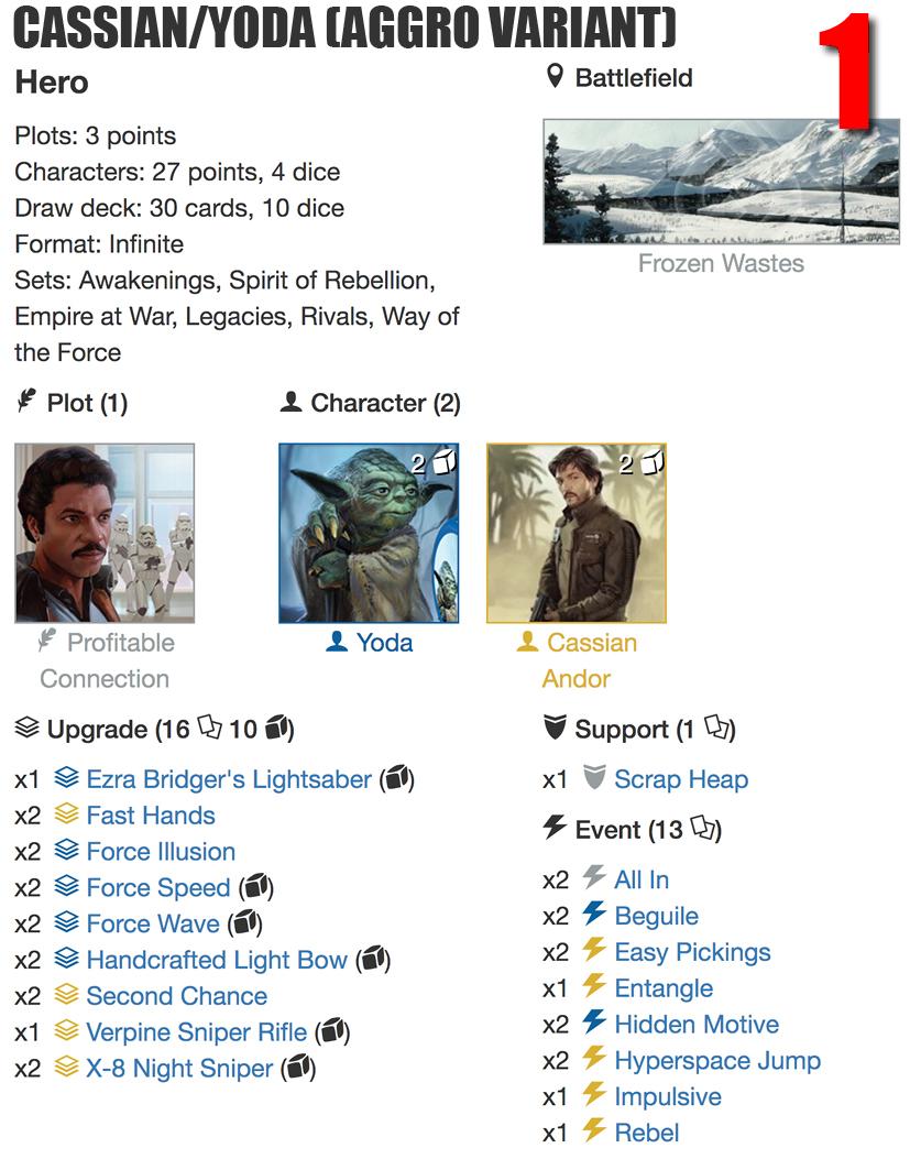 Cassian Yoda Aggro deck listjpg