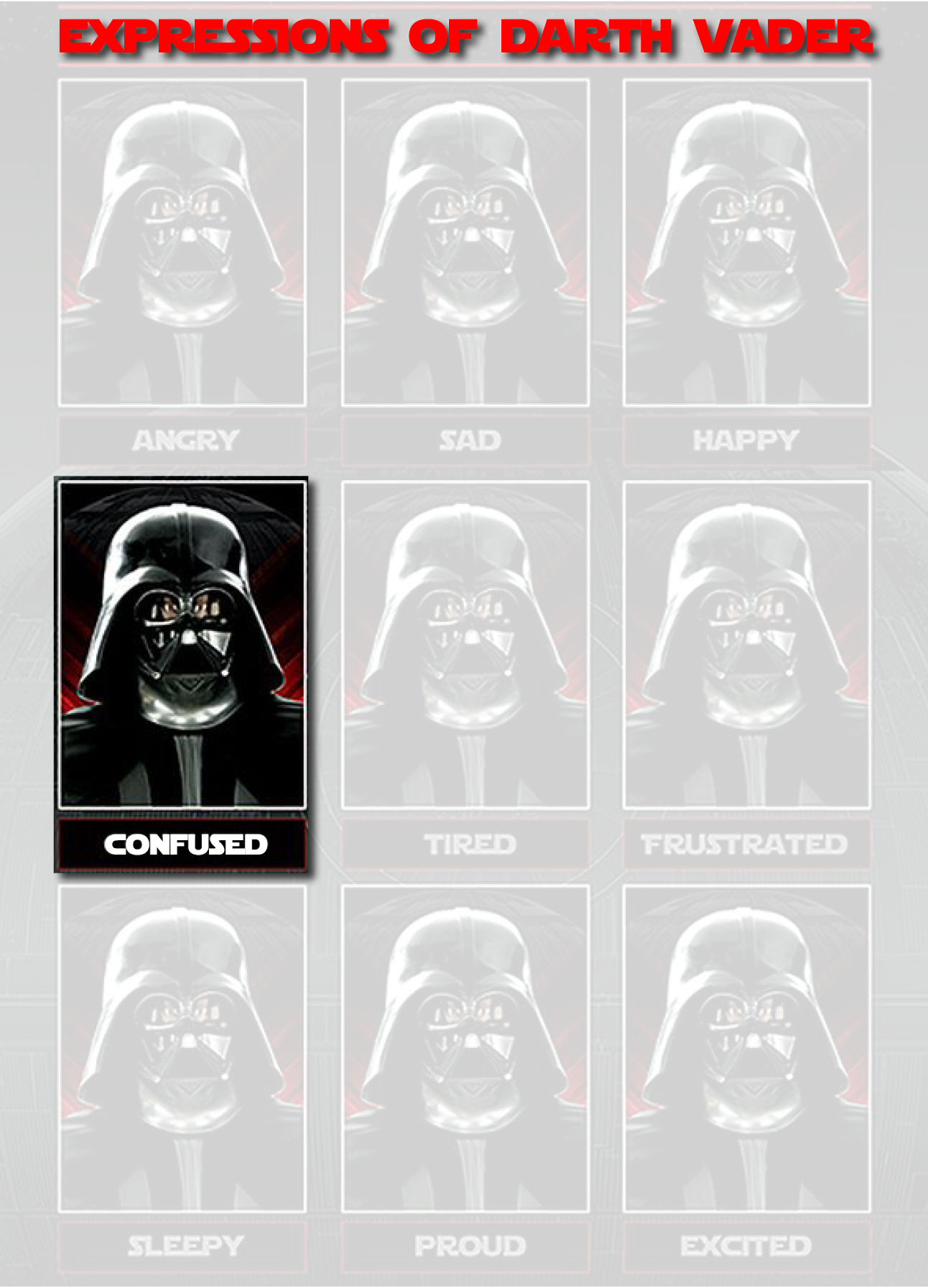 Expressions of darth vaderjpg