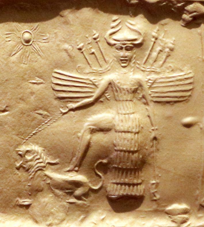 Ishtar_on_an_Akkadian_sealjpg