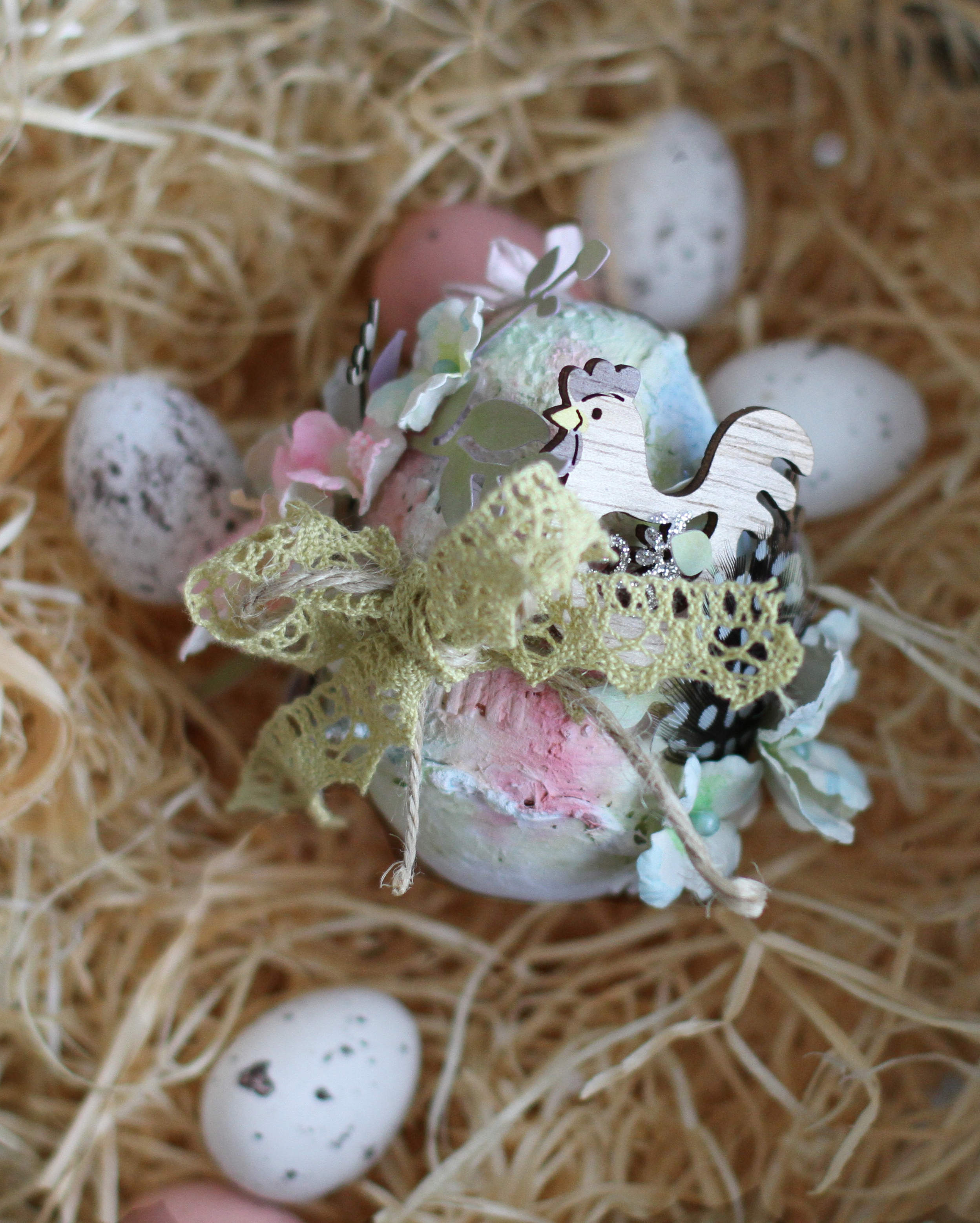 Easter - mixed media egg