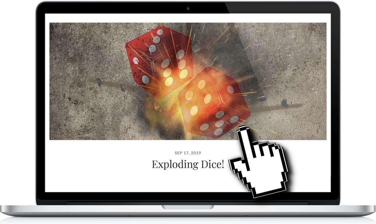 exploding dice THUMBNAILjpg