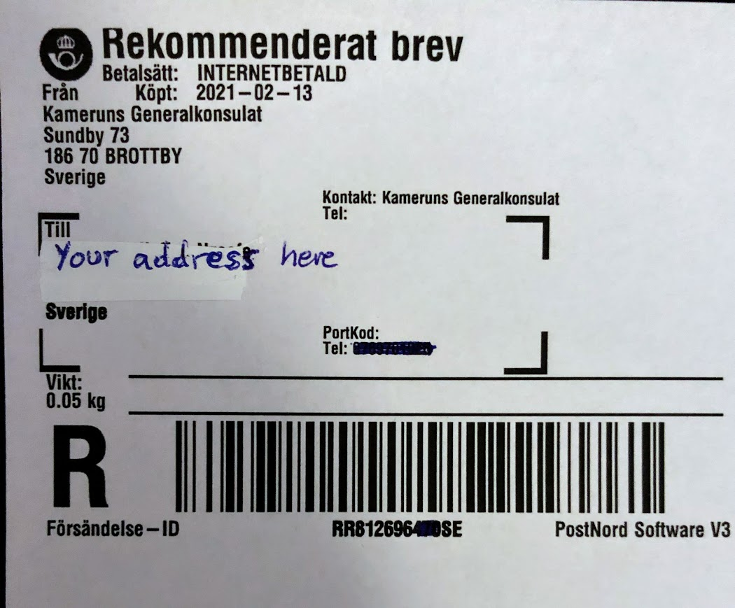 Pre-payed label registered mailjpg