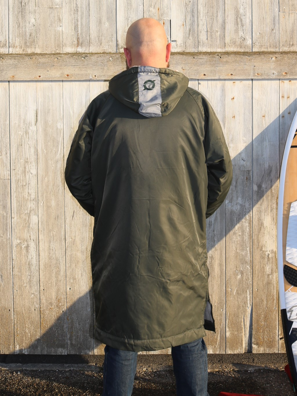 Klitmøller Frakke -Walrus Surfercoat, Sky Blue, Olive Green and Black