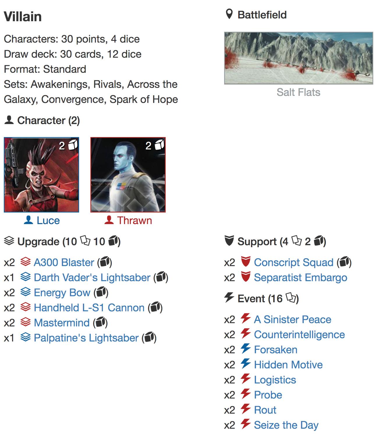 5 Things deck list 4jpg