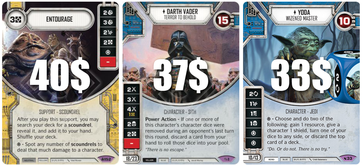 Complete Common Set 57 Cards Star Wars Destiny Across the Galaxy