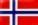 Flag - Norge 38 x 25jpg