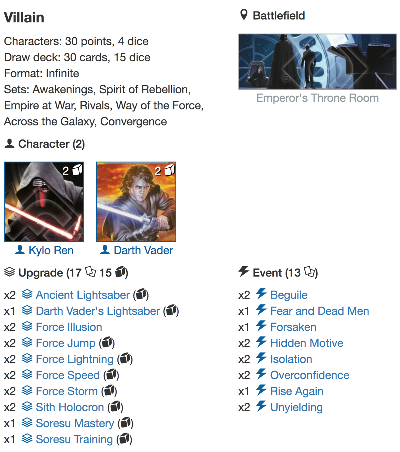 deck list Infinite4jpg