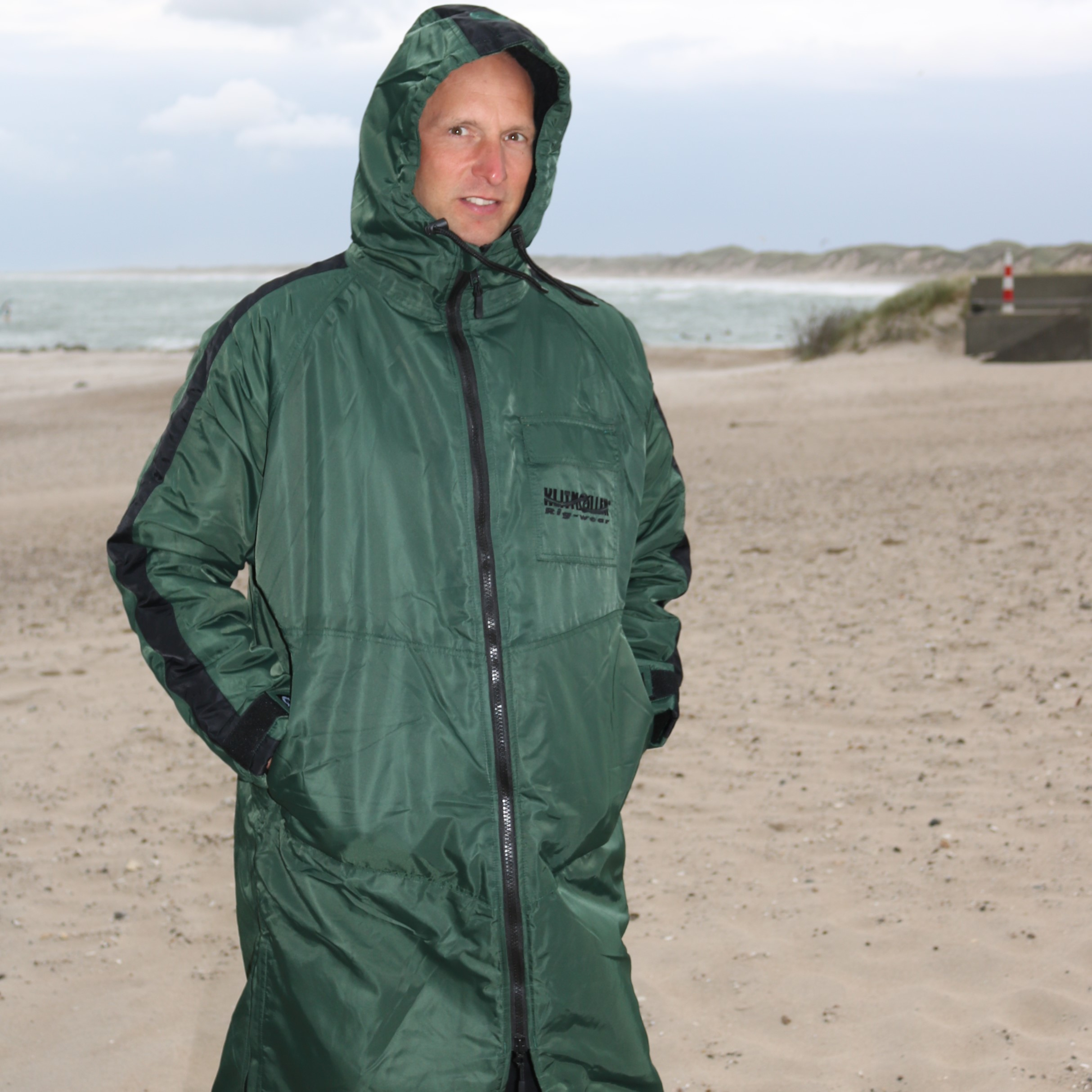 Klitmøller Walrus Surfercoat,  Dark green and Coffee