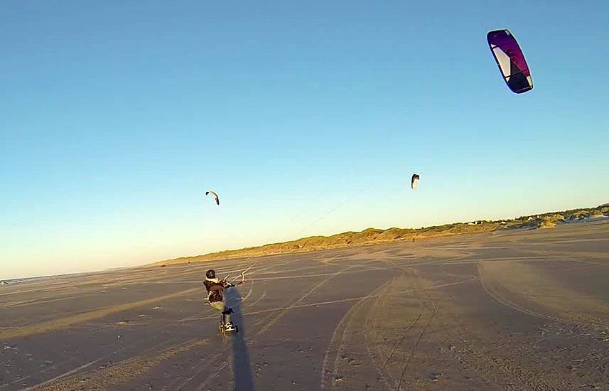 Kite landboarding can be a nice option in winter than kitesurfing in negative temperatures